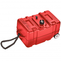 Easterner Outboard Fuel Tank with Gauge and Wheels 45L