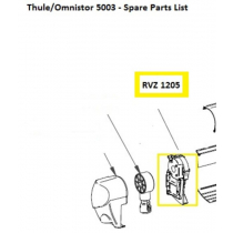 Thule/Omnistor Left Hand End Plate Assembly for 5003 Series Awning