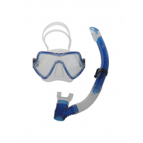CDX Silicone Diving Mask and Snorkel Set Blue Large