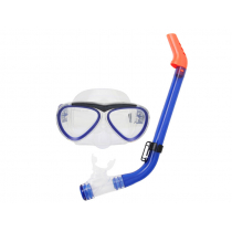 Aropec Kids Silicone Mask and Semi-Dry Snorkel Set Transparent Blue