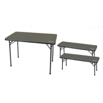 Coleman Folding Table and Bench 3-Piece Set