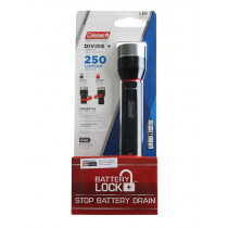 Coleman BatteryLock Divide Plus Aluminium LED Torch 250 Lumens