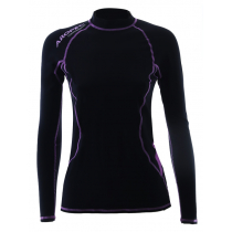 Aropec Compression Womens Long Sleeve Top Black/Purple XL