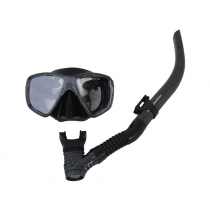 Mirage Carbon Silicone Dive Mask and Snorkel Set Black