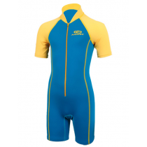 Aropec Kids Neoprene/Lycra Shorty Wetsuit Blue/Yellow Size 14