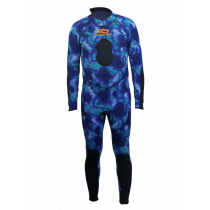 Aropec Blue Camouflage Mens Spearfishing Wetsuit 2mm M