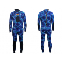 Aropec Blue Camouflage Mens Spearfishing Wetsuit 2mm L