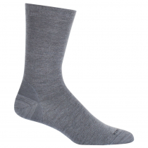Icebreaker Merino Lifestyle Fine Gauge Crew Socks Twister Heather/Black L/XL