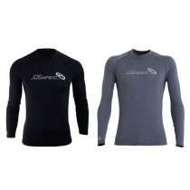 Aropec Lycra Mens Long Sleeve Rash Top Black/Grey