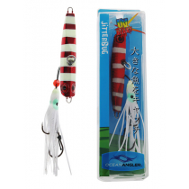 Ocean Angler Jitterbug Inchiku Lure Red Flash Glow