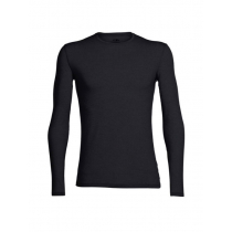 Icebreaker Merino Mens Anatomica Long Sleeve Crewe Shirt Black S