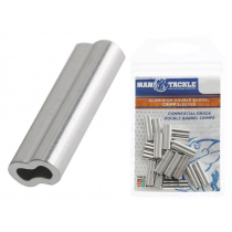 ManTackle Aluminium Double Barrel Crimp Sleeves Qty 20
