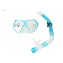 Aropec Adult Silicone Dive Mask and Snorkel Set Aqua Blue