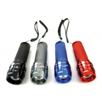 Perfect Image CREE High Power Zoom Torch 180 Lumens Black Blue