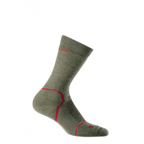 Icebreaker Mens Merino Hike Medium Crew Socks Grey/Red S