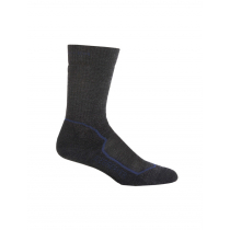 Icebreaker Mens Hike+ Medium Crew Socks Jet Heather/Planet/Black