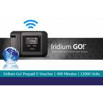 Iridium GO! Prepaid E-voucher with 400 Minutes or 12000 Units of Direct Internet GO! Data 6 Month Validity