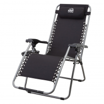 Kiwi Camping Lax-Out Recliner Black