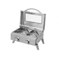 Kiwi Sizzler Deluxe Stainless Steel 2 Burner BBQ
