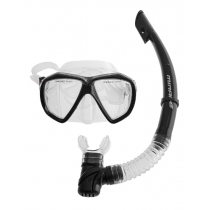 Mirage Carbon Silicone Dive Mask and Snorkel Set Clear