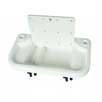 Oceansouth Extra Large Bait Board with Sink Rod Holder Mount