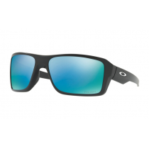 Oakley Double Edge PRIZM Polarised Sunglasses Black Frame/Deep Water Lens