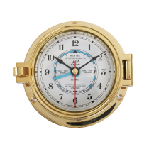 Plastimo Brass Tide and Time Clock 3in