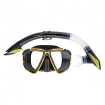 Mirage Platinum Adult Dive Mask and Snorkel Set Yellow