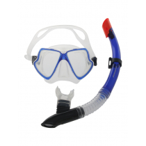 Mirage Pacific Adult Silicone Mask and Snorkel Set Blue/Clear