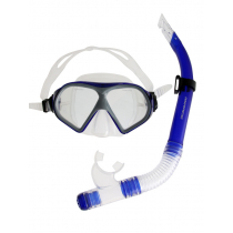 Mirage Freedom Silicone Dive Mask and Snorkel Set Dark Blue