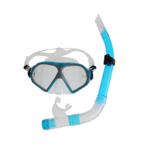 Mirage Freedom Silicone Dive Mask and Snorkel Set Sky Blue