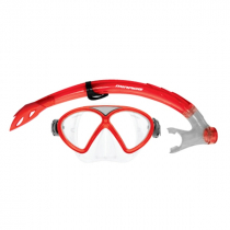 Mirage Comet Junior Dive Mask and Snorkel Set Red