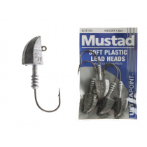 Mustad Soft Plastic Lead Jig Heads 5/0 1.5oz Qty 4