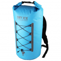 Dry Ice Coolers Waterproof Chilly Bin Backpack Turquoise 40L