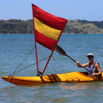 Pacific Action Kayak Sail Red Yellow
