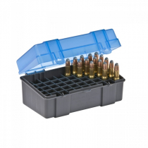 Plano 122850 Small Rifle Ammo Case 50 Rounds Blue