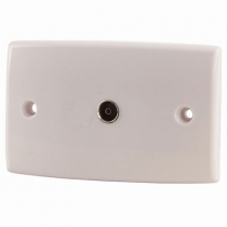 Flushmount 75 Ohm TV Wall Socket with F59 Connection