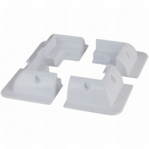 ABS Solar Panel Corner Mounts - Set of 4