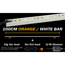 Hard Korr Lighting 100cm Orange/White LED Light Kit