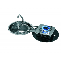 CAN Round Flap Hob Unit with Retractable Sink