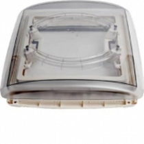 MPK 290mm x 290mm 4 Way Roof Vent with Clear Dome & Blind