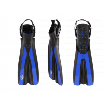 Sea Harvester Open Heel Dive Fins Blue Large to XL