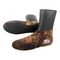 Aropec Mens Skin Top Spearfishing Dive Socks Camo Copper Brown 5mm