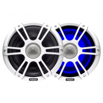 Fusion Signature 2-Way Coaxial Sports White Marine Speakers with LED 7.7'' 280W