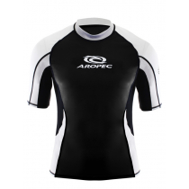 Aropec Lycra Mens Short Sleeve Rash Top Black XS