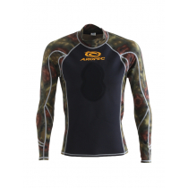 Aropec Spearo Camouflage Mens Rash Guard Green L