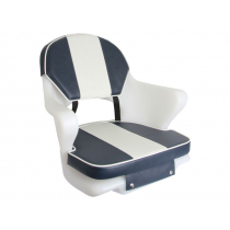 Hi-Tech Upholstery for Cruiser Boat Seat Seat Navy/White