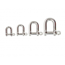 Stainless Steel D Shackle with Captive Pin