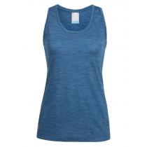 Icebreaker Womens Merino Hybrid Sphere Tank Prussian Blue Heather L