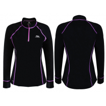Aropec Womens Thermo-Regulated Quick-Dry Watersports Top with Zip